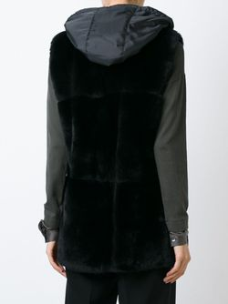 Пиджак Без Рукавов С Капюшоном P.A.R.O.S.H.                                                                                                              чёрный цвет
