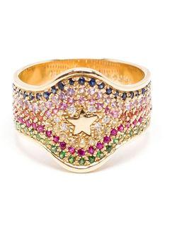 Кольцо С Верхушкой-Щитом Carolina Bucci                                                                                                              серебристый цвет