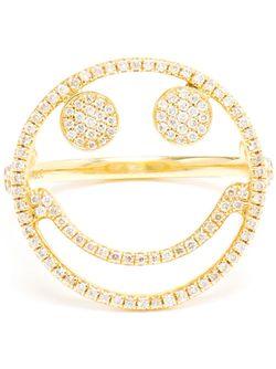 Diamond Smiley Ring ROSA DE LA CRUZ                                                                                                              серебристый цвет
