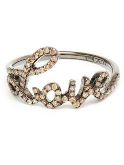 Love 18kt Oxidised And Diamond Ring ROSA DE LA CRUZ                                                                                                              коричневый цвет