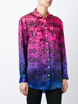 Шелковая Рубашка С Принтом Pierre Balmain                                                                                                              розовый цвет