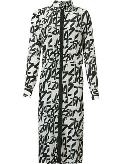 Midi Printed Shirt Dress ANDREA MARQUES                                                                                                              чёрный цвет