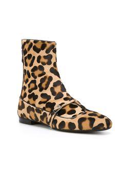 Ботинки По Щиколотку С Леопардовым Принтом No21                                                                                                              Nude & Neutrals цвет