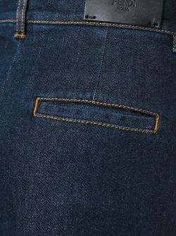 Джинсовые Кюлоты Fendi                                                                                                              синий цвет