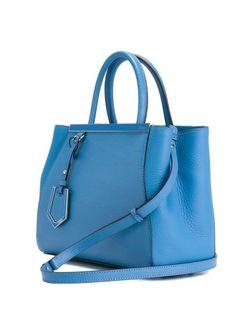 Сумка-Тоут 2jours Fendi                                                                                                              синий цвет