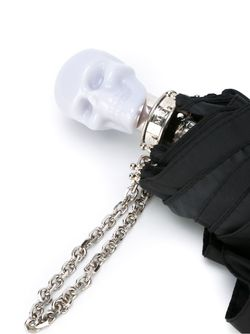 Зонт С Ручкой В Форме Скелета Alexander McQueen                                                                                                              чёрный цвет