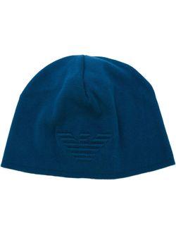 Шапка С Вышитым Логотипом Emporio Armani                                                                                                              синий цвет