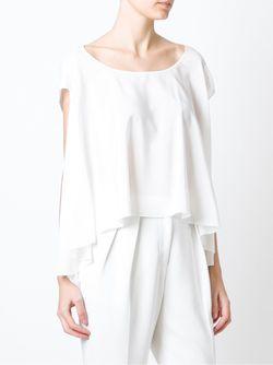 Блузка Свободного Кроя Givenchy                                                                                                              белый цвет