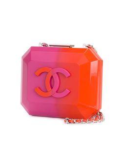 Клатч-Футляр С Логотипом Chanel Vintage                                                                                                              желтый цвет