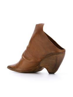 Асимметричные Мюли Marsell                                                                                                              коричневый цвет