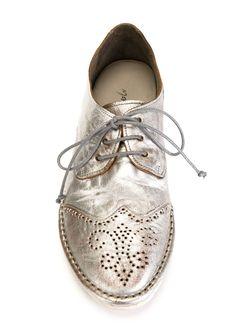 Туфли На Шнуровке Marsell                                                                                                              серебристый цвет