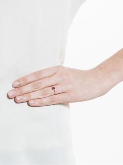 Кольцо С Родолитом Ileana Makri                                                                                                              серебристый цвет