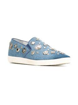 Декорированные Кеды-Слипон Toga                                                                                                              синий цвет