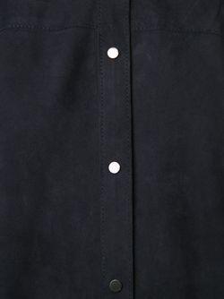 Замшевая Рубашка Без Рукавов Vince                                                                                                              синий цвет