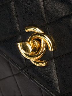 Сумка Мини Через Плечо С Логотипом Chanel Vintage                                                                                                              черный цвет