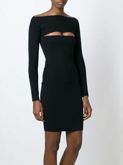 Платье В Рубчик T By Alexander Wang                                                                                                              чёрный цвет