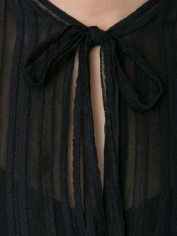 Кружевное Платье В Полоску SCANLAN THEODORE                                                                                                              черный цвет