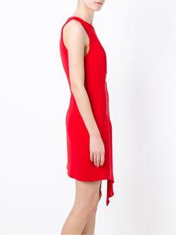 Драпированное Платье С Застежкой-Молнией Versus                                                                                                              красный цвет