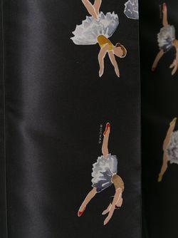 Укороченные Брюки С Принтом Балерин Rochas                                                                                                              черный цвет