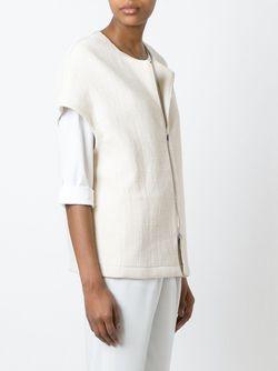Куртка С Короткими Рукавами На Молнии Eleventy                                                                                                              белый цвет