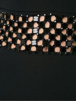 Платье С Контрастной Вставкой На Талии David Koma                                                                                                              черный цвет
