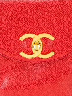 Сумка Через Плечо С Откидным Клапаном Chanel Vintage                                                                                                              красный цвет