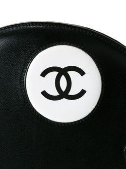 Круглая Сумка Через Плечо Chanel Vintage                                                                                                              чёрный цвет