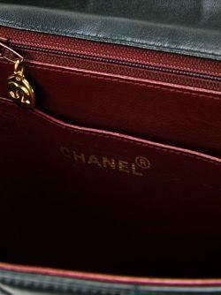 Сумка На Плечо С Тисненым Узором Chanel Vintage                                                                                                              черный цвет