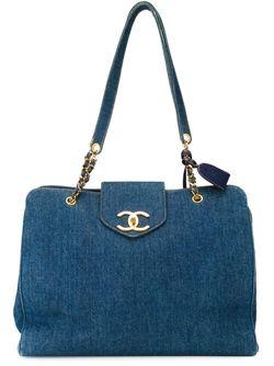 Сумка-Тоут Supermodel Chanel Vintage                                                                                                              синий цвет