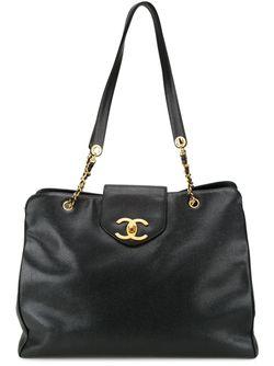 Сумка-Тоут Supermodel Chanel Vintage                                                                                                              чёрный цвет