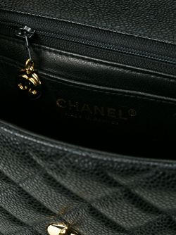 Стеганая Сумка Через Плечо Chanel Vintage                                                                                                              черный цвет