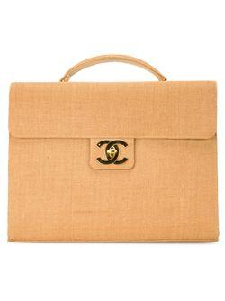 Портфель Из Рафии Chanel Vintage                                                                                                              коричневый цвет