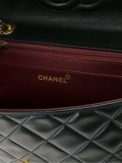 Стеганая Сумка На Плечо Jumbo Chanel Vintage                                                                                                              чёрный цвет