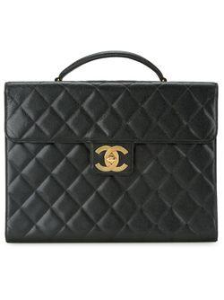 Стеганый Портфель Chanel Vintage                                                                                                              чёрный цвет