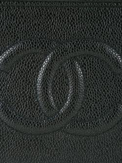 Чемоданчик Для Косметики С Тисненым Логотипом Chanel Vintage                                                                                                              черный цвет