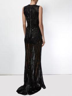 Декорированное Вечернее Платье Zuhair Murad                                                                                                              чёрный цвет