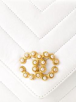 Стеганая Сумка Через Плечо Chanel Vintage                                                                                                              белый цвет