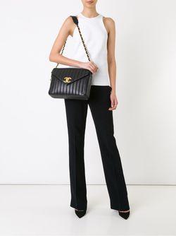 Сумка На Плечо Jumbo Xl Mademoiselle Chanel Vintage                                                                                                              чёрный цвет