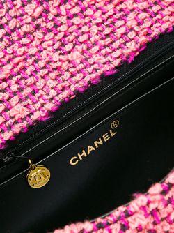Твидовая Сумка-Тоут Chanel Vintage                                                                                                              розовый цвет