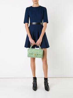 Твидовая Сумка Chanel Vintage                                                                                                              зелёный цвет