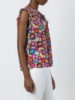Топ Без Рукавов С Оборками Emilio Pucci                                                                                                              многоцветный цвет