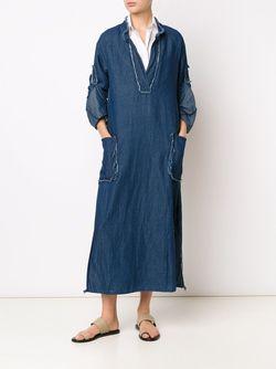 Длинное Платье-Туника Raquel Allegra                                                                                                              синий цвет