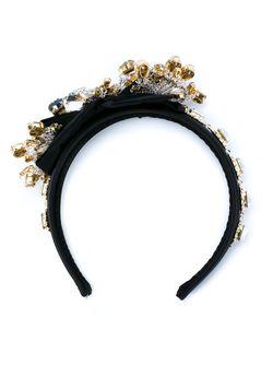 Декорированный Ободок Dolce & Gabbana                                                                                                              чёрный цвет
