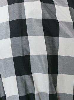 Расклешенное Платье В Клетку Rochas                                                                                                              черный цвет