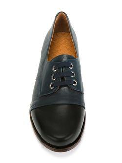 Туфли С Контрастным Носком Chie Mihara                                                                                                              черный цвет