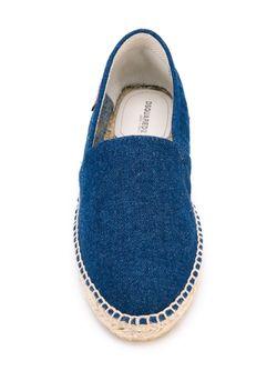 Джинсовые Эспадрильи Dsquared2                                                                                                              синий цвет