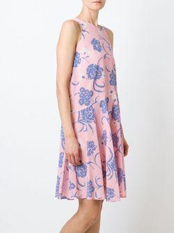 Расклешенное Платье С Цветочным Принтом P.A.R.O.S.H.                                                                                                              розовый цвет