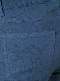 Джинсы Кроя Скинни Cartoon Kenzo                                                                                                              синий цвет