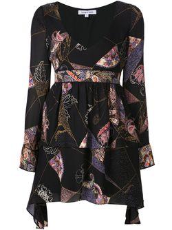 Платье С Принтом И Глубоким Вырезом Elizabeth And James                                                                                                              черный цвет