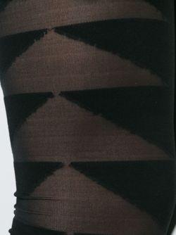 Леггинсы С Прозрачными Панелями Rick Owens Lilies                                                                                                              черный цвет